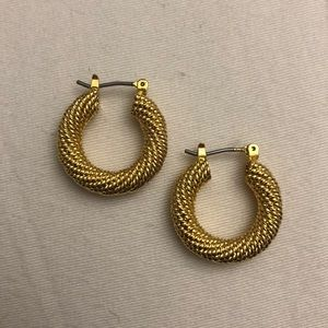 2/$15!!! Gold (coloured) Small Hoop Earrings!